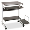 Mayline Portrait PC Desk Cart Mobile Workstation, 36-1/2w x 19-1/4d x 31h, Anthracite