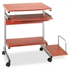 Mayline Portrait PC Desk Cart Mobile Workstation, 36-1/2w x 19-1/4d x 31h, Medium Cherry