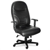 Comfort Series Executive High-Back Chair, Black Leather
