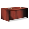 Mayline Aberdeen Series Laminate Bow Front Desk Shell, 72w x 42d x 29-1/2h, Cherry