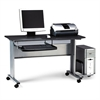 Eastwinds Mobile Work Table, 57w x 23-1/2d x 29h, Anthracite