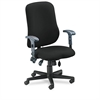 Comfort Series Contoured Support Chair, Acrylic/Poly Blend Fabric, Black