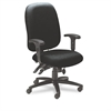 Mayline 24-Hour High-Performance Task Chair, Acrylic/Poly Blend Fabric, Black