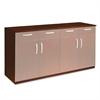 Mayline Wood Veneer Buffet Credenza Cabinet, 72w x 22d x 36h, Sierra Cherry