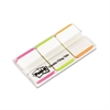 Post-it File Tabs, 1 x 1 1/2, Lined, Assorted Fluorescent Colors, 66/Pack
