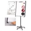MasterVision Platinum Mobile Easel, White, 29 x 41, Black Frame