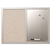 MasterVision Combo Bulletin Board, Bulletin/Dry Erase, 24X18, Gray Frame