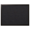 Designer Fabric Bulletin Board, 24X18, Black Fabric/Black Frame
