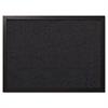 MasterVision Designer Fabric Bulletin Board, 24X18, Black Fabric/Black Frame