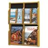 Safco Expose Adj Magazine/Pamphlet Four Pocket Display, 20w x 26-1/4h, Medium Oak