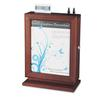 Safco Customizable Wood Suggestion Box, 10 1/2 x 5 3/4 x 14 1/2, Mahogany