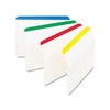 Post-it Angled Tabs, 2 x 1 1/2, Striped, Assorted Primary Colors, 24/Pack