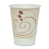 SOLO Cup Company Hot Cups, Symphony Design, 8oz, Beige, 50/Pack