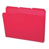 Smead Waterproof Poly File Folders, 1/3 Cut Top Tab, Letter, Red, 24/Box