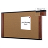 3M Cork Bulletin Board, 48 x 36, Aluminum Frame w/Mahogany Wood Grained Finish