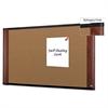 3M Cork Bulletin Board, 48 x 36, Aluminum Frame w/Mahogany Wood Grained Finish
