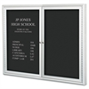 "Best-Rite Enclosed Directory Board, 48""w x 36""h, Aluminum Frame"