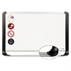 MasterVision Porcelain Magnetic Dry Erase Board, 29.5 x 48, White/Silver