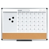 MasterVision 3-in-1 Calendar Planner Dry Erase Board, 24 x 18, Aluminum Frame