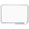 "Platinum Plus Dry Erase Planning Board, 1x2"" Grid, 36x24, Silver Frame"