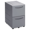 Iceberg Aspira Mobile Underdesk Pedestal File, Resin, Two File Drawers, Charcoal