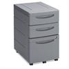 Iceberg Aspira Mobile Underdesk Pedestal File, Resin, Box/Box/File Drawer, Charcoal