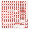 "Interchangeable Magnetic Characters, Letters, Red, 3/4""h"