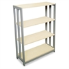 Linea Italia Trento Line Bookcase, Three-Shelf, 31-1/2w x 11-5/8d x 43-1/4h, Oatmeal