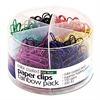 Officemate Plastic Coated Paper Clips, Assorted Colors, 300 Small Clips, 150 Giant Clips
