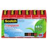 "Scotch Transparent Greener Tape, 3/4"" x 900"", 1"" Core, 6/Pack"