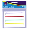 Label Pads, File Folder, Permanent, 2/3 x 3 7/16, Assorted, 160/Pack