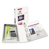 "Mini Protect & Store View Binder w/Round Rings, 8 1/2 x 5 1/2, 1"" Cap, White"