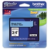 "Brother P-Touch TZe Standard Adhesive Laminated Labeling Tape, 3/4""w, Black on Blue"