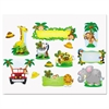 Carson-Dellosa Publishing Jungle Safari Bulletin Board Set, Various Animals, Assorted Colors