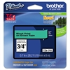 "Brother P-Touch TZe Standard Adhesive Laminated Labeling Tape, 7/10"", Black on Green"