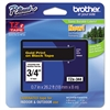 "Brother P-Touch TZe Standard Adhesive Laminated Labeling Tape, 3/4""w, Gold on Black"