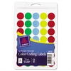 See Through Removable Color Dots, 3/4 dia, Assorted Colors, 1015/Pack