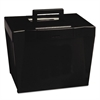 Portable File Storage Box, Letter, Plastic, 13 1/2 x 10 1/4 x 10 7/8, Black