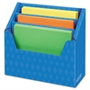 Bankers Box Folder Holder with Compartment Organizer, 12 1/2 x 9 x 5 5/8, Blue