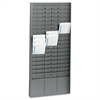 "Steel Time Card Rack with Adjustable Dividers, 5"" Pockets"