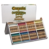 Crayola Construction Paper Crayons, Classpack, Wax, 20 Sets of 8 Colors, 160/Box