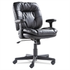 Executive Swivel/Tilt Chair, Fixed T-Bar Arms, Black