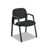 Safco Cava Urth Collection Straight Leg Guest Chair, Black