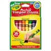Crayola My First Washable Triangular Crayons, Wax,16/Set
