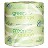 Green Heritage Toilet Tissue, 4 1/2 x 3 4/5 Sheets, 1-Ply, 1000/Roll, 96 Roll/CT