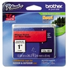 "Brother P-Touch TZe Standard Adhesive Laminated Labeling Tape, 1""w, Black on Red"