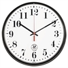 "Atomic Slimline Contemporary Clock, 12-3/4"", Black"