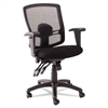 Alera Alera Etros Series Petite Mid-Back Multifunction Mesh Chair, Black