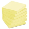 Post-it Recycled Note Pads, 3 x 3, Canary Yellow, 100-Sheet, 24/Pack