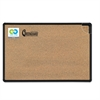 Best-Rite Black Splash-Cork Board, 36 x 24, Natural Cork, Black Frame